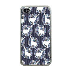 Geometric Deer Retro Pattern Apple iPhone 4 Case (Clear)