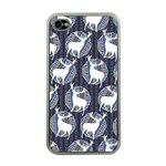 Geometric Deer Retro Pattern Apple iPhone 4 Case (Clear) Front