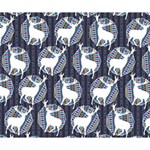 Geometric Deer Retro Pattern Deluxe Canvas 14  x 11  14  x 11  x 1.5  Stretched Canvas