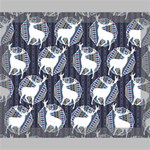 Geometric Deer Retro Pattern Deluxe Canvas 20  x 16   20  x 16  x 1.5  Stretched Canvas