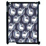 Geometric Deer Retro Pattern Apple iPad 2 Case (Black) Front