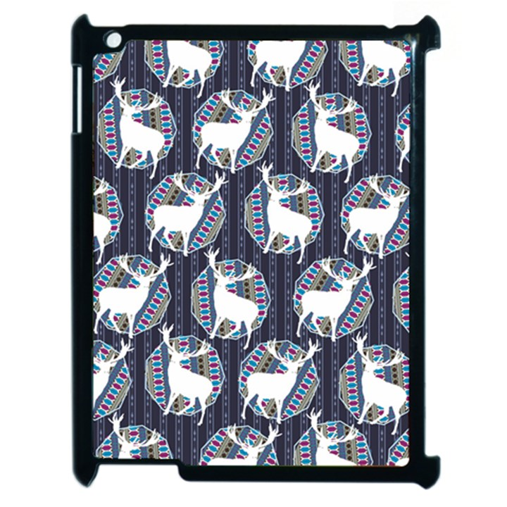 Geometric Deer Retro Pattern Apple iPad 2 Case (Black)