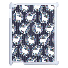 Geometric Deer Retro Pattern Apple iPad 2 Case (White)