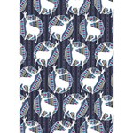 Geometric Deer Retro Pattern Get Well 3D Greeting Card (7x5) Inside