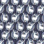Geometric Deer Retro Pattern Merry Xmas 3D Greeting Card (8x4) Inside