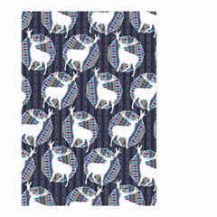 Geometric Deer Retro Pattern Small Garden Flag (Two Sides)