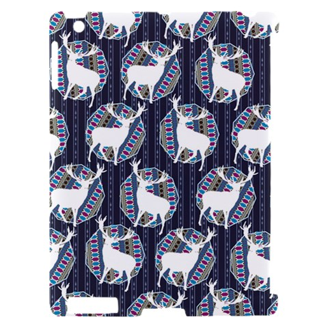 Geometric Deer Retro Pattern Apple iPad 2 Hardshell Case (Compatible with Smart Cover)