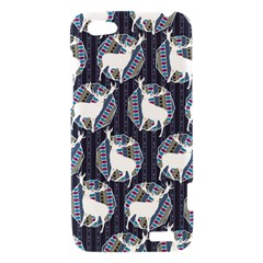 Geometric Deer Retro Pattern HTC One V Hardshell Case