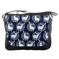 Geometric Deer Retro Pattern Messenger Bags