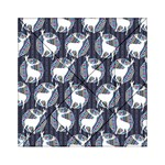 Geometric Deer Retro Pattern Acrylic Tangram Puzzle (6  x 6 ) Front