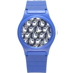 Geometric Deer Retro Pattern Round Plastic Sport Watch (s)