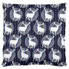 Geometric Deer Retro Pattern Large Cushion Case (One Side)