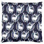 Geometric Deer Retro Pattern Large Cushion Case (Two Sides) Back