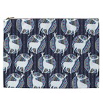 Geometric Deer Retro Pattern Cosmetic Bag (XXL)  Front