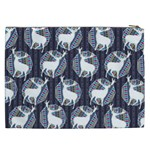 Geometric Deer Retro Pattern Cosmetic Bag (XXL)  Back