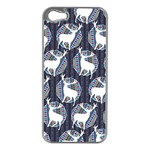 Geometric Deer Retro Pattern Apple iPhone 5 Case (Silver) Front