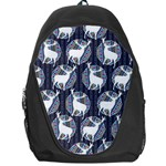 Geometric Deer Retro Pattern Backpack Bag Front