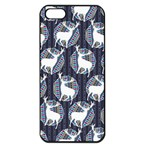 Geometric Deer Retro Pattern Apple iPhone 5 Seamless Case (Black) Front