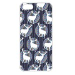 Geometric Deer Retro Pattern Apple iPhone 5 Seamless Case (White) Front