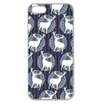 Geometric Deer Retro Pattern Apple Seamless iPhone 5 Case (Clear) Front