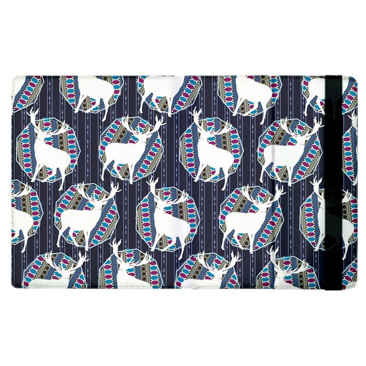 Geometric Deer Retro Pattern Apple iPad 2 Flip Case