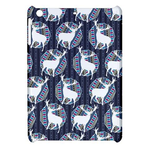 Geometric Deer Retro Pattern Apple iPad Mini Hardshell Case