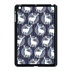 Geometric Deer Retro Pattern Apple Ipad Mini Case (black)