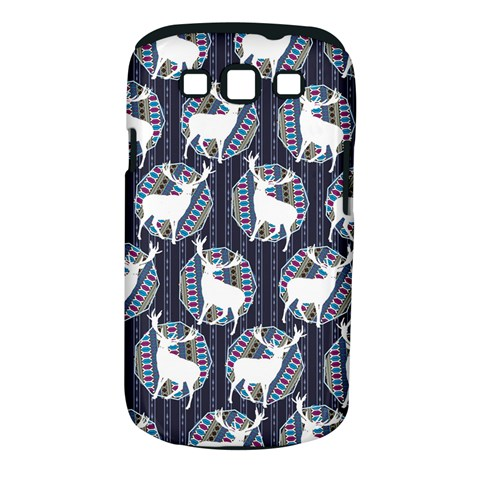 Geometric Deer Retro Pattern Samsung Galaxy S III Classic Hardshell Case (PC+Silicone)
