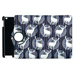 Geometric Deer Retro Pattern Apple iPad 2 Flip 360 Case Front