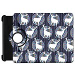 Geometric Deer Retro Pattern Kindle Fire HD Flip 360 Case Front