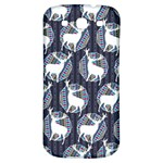 Geometric Deer Retro Pattern Samsung Galaxy S3 S III Classic Hardshell Back Case Front