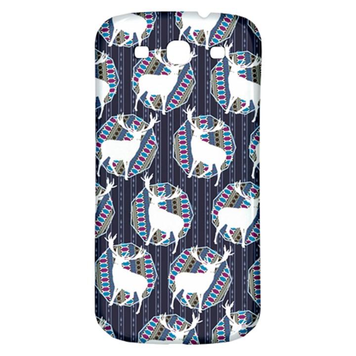 Geometric Deer Retro Pattern Samsung Galaxy S3 S III Classic Hardshell Back Case
