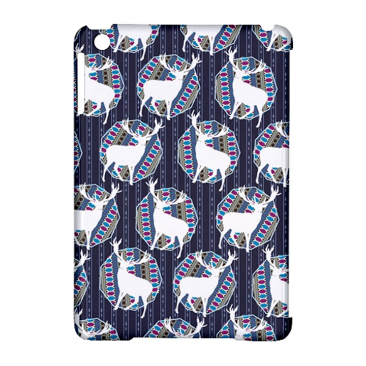 Geometric Deer Retro Pattern Apple iPad Mini Hardshell Case (Compatible with Smart Cover)