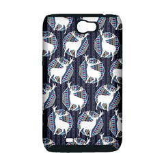 Geometric Deer Retro Pattern Samsung Galaxy Note 2 Hardshell Case (PC+Silicone)