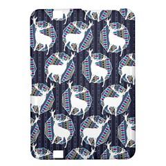 Geometric Deer Retro Pattern Kindle Fire HD 8.9