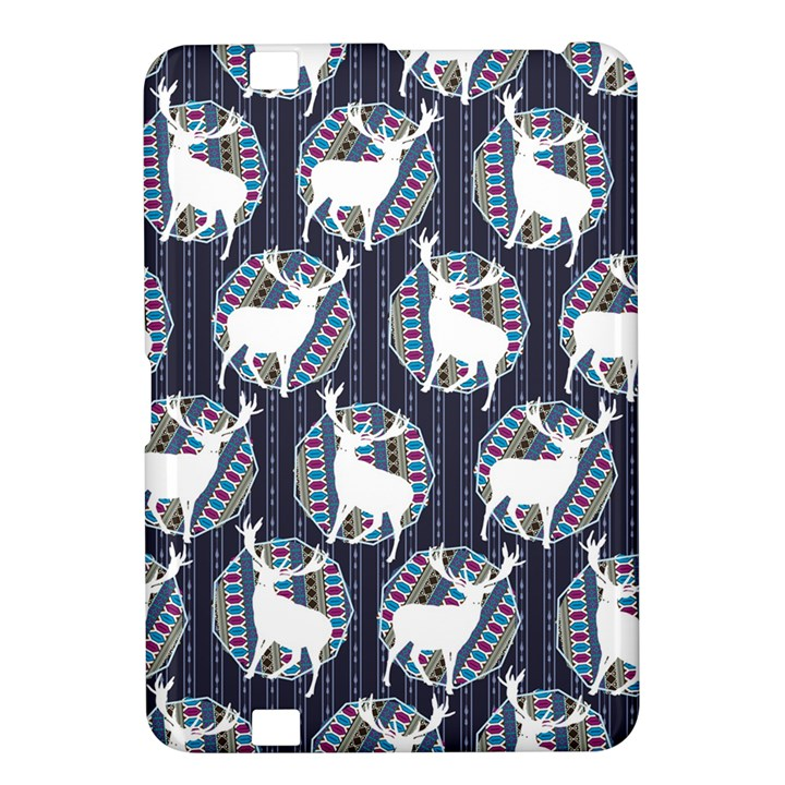 Geometric Deer Retro Pattern Kindle Fire HD 8.9