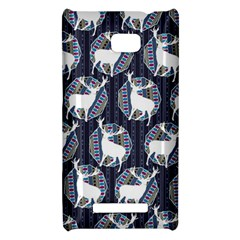 Geometric Deer Retro Pattern HTC 8X