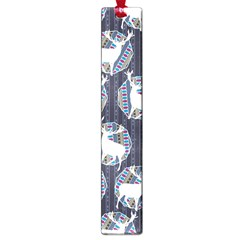 Geometric Deer Retro Pattern Large Book Marks
