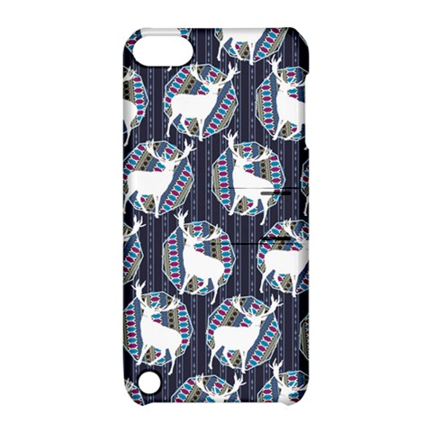 Geometric Deer Retro Pattern Apple iPod Touch 5 Hardshell Case with Stand
