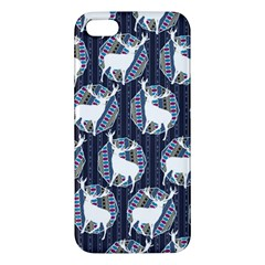 Geometric Deer Retro Pattern Apple iPhone 5 Premium Hardshell Case