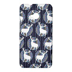 Geometric Deer Retro Pattern HTC One M7 Hardshell Case