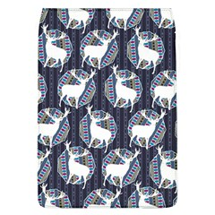 Geometric Deer Retro Pattern Flap Covers (L)