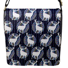 Geometric Deer Retro Pattern Flap Messenger Bag (S)