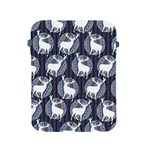 Geometric Deer Retro Pattern Apple iPad 2/3/4 Protective Soft Cases Front