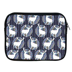Geometric Deer Retro Pattern Apple iPad 2/3/4 Zipper Cases