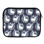 Geometric Deer Retro Pattern Apple iPad 2/3/4 Zipper Cases Front