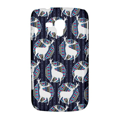 Geometric Deer Retro Pattern Samsung Galaxy Duos I8262 Hardshell Case