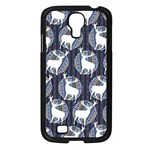Geometric Deer Retro Pattern Samsung Galaxy S4 I9500/ I9505 Case (Black) Front