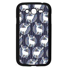 Geometric Deer Retro Pattern Samsung Galaxy Grand DUOS I9082 Case (Black)