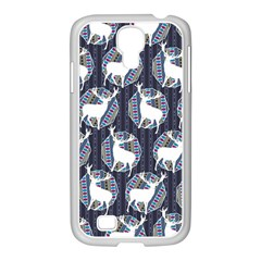 Geometric Deer Retro Pattern Samsung Galaxy S4 I9500/ I9505 Case (white)